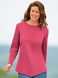 Long-Sleeve V-Hemline Tee