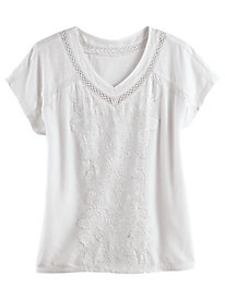 Adalyn V-Neck Tee by Gloria Vanderbilt®