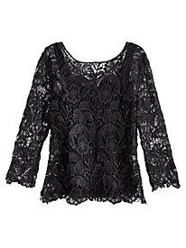 Metallic Crochet Lace Top