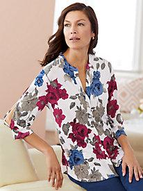 Open Sleeve Print Shirt