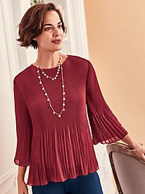 Crystal Pleated Top