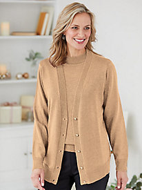 Lurex Cardigan and Shell