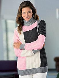 Textured Colorblock Sweater