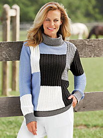 Textured Colorblock Sweater