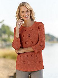 Pointelle Lurex Sweater