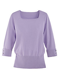 J.G. Hook® Flattering Ribbed Sweater by Bedford Fair