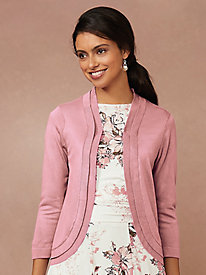 Three-Quarter Sleeve Double Layer Shrug