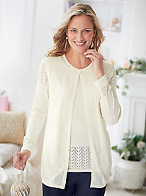 Pointelle 2-in-1 Sweater