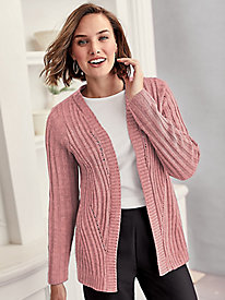 Chunky Pointelle Cardigan