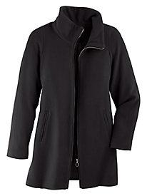 Zip Wool Coat
