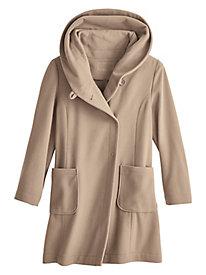 Wool Blend Wrap Coat by Bedford Fair