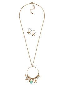 Sealife Charm Necklace Set