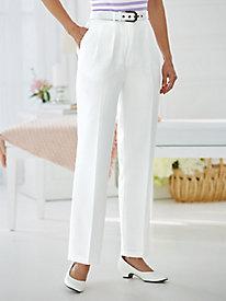 Koret® Belted Crepe Pants