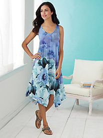 Sharkbite Sleeveless Dress By One World® by Bedford Fair