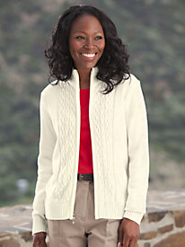 Cabled Comfort Cardigan Sweater