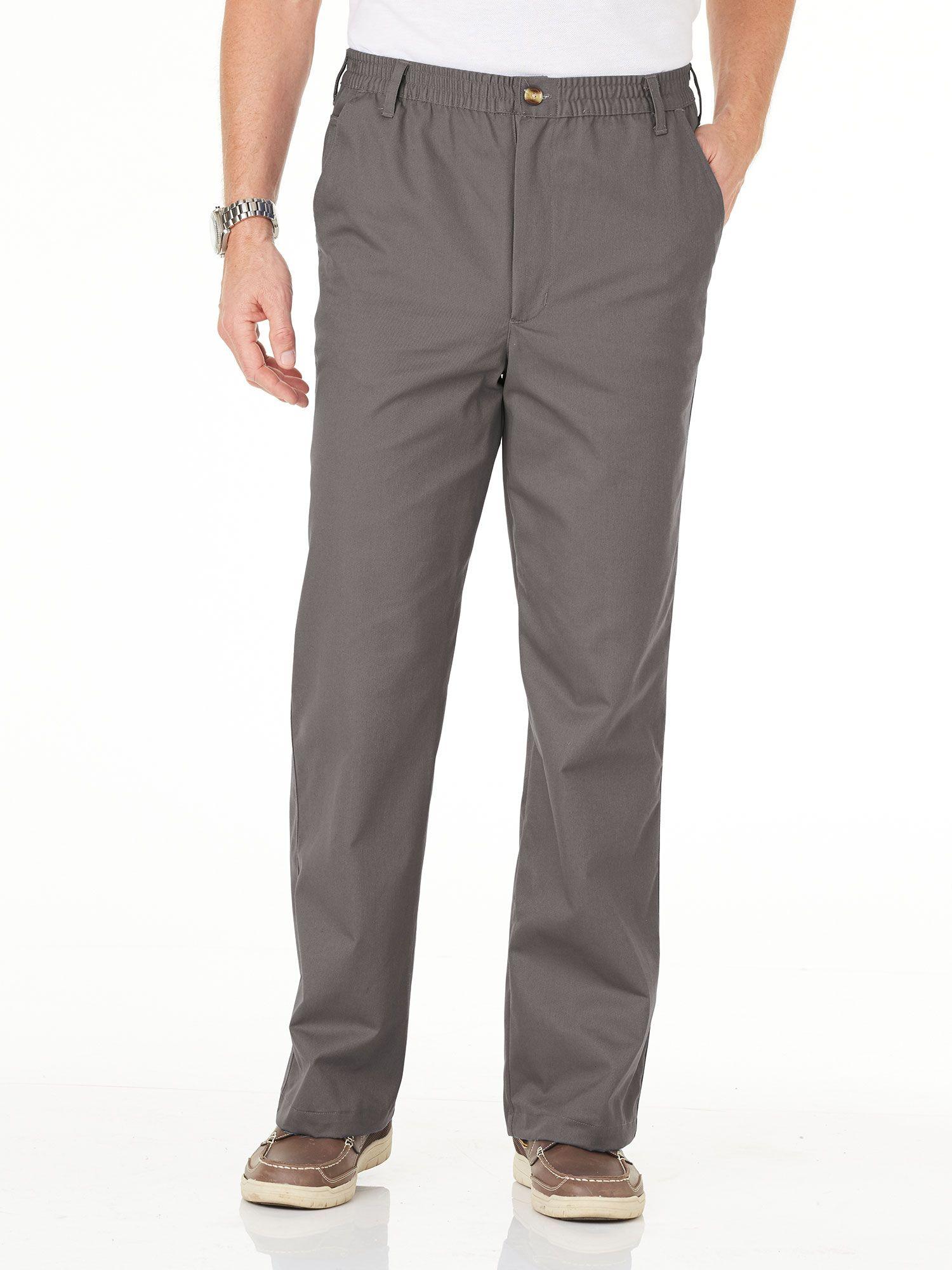 Haband - Men's Casual Joe® Stretch-Waist Twill Pants