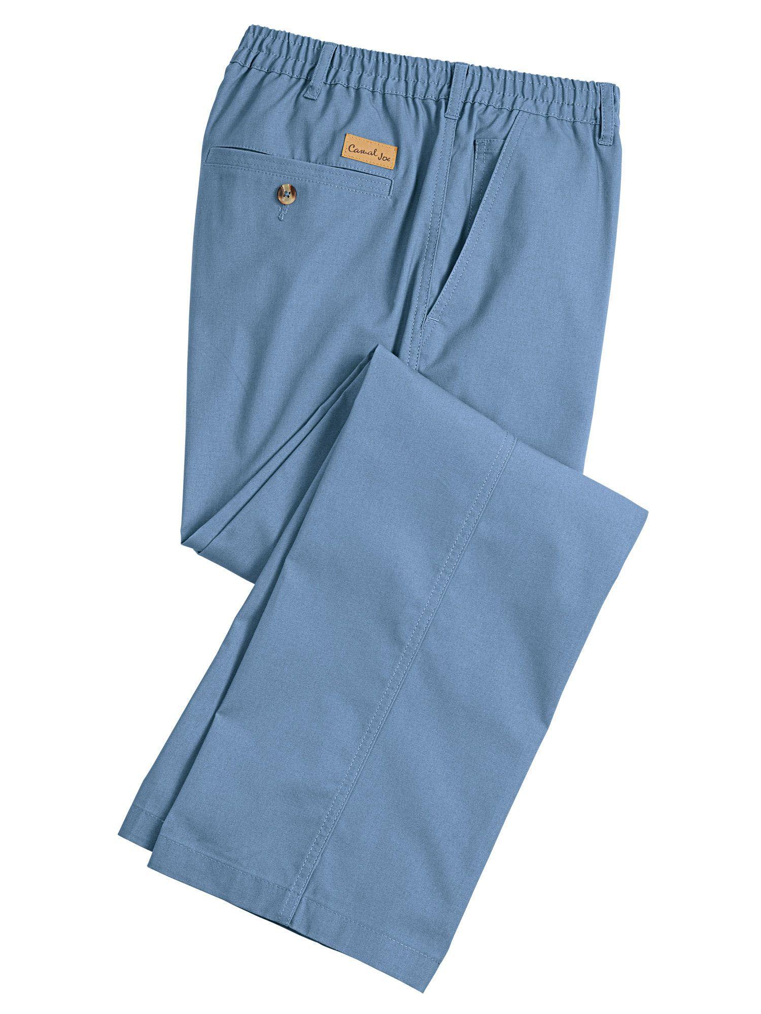Casual Joe® Stretch Waist, Wrinkle Resistant Poplin Pants