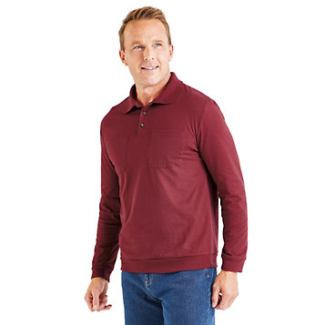 a1d76cc87 Classic Comfort Long-Sleeve Polo Shirt. Item Number  10H