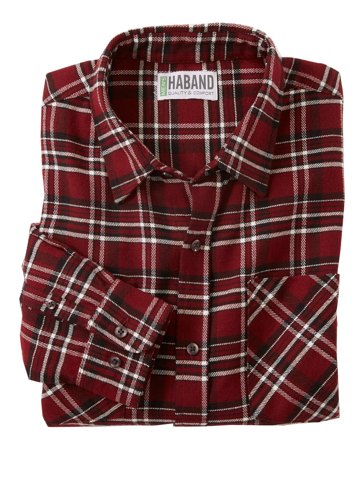 Haband Soft Brushed Flannel Shirt