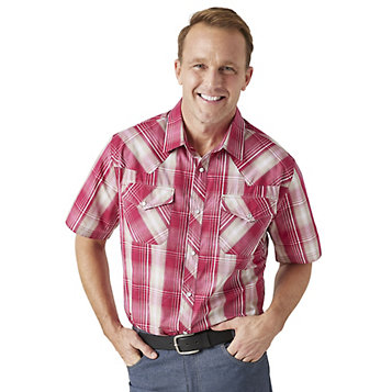 Duke Mens Western Denim Button Down Shirt