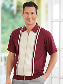 1950s Style Mens Shirts Comfort Casual Dual Texture Shirt $17.99 AT vintagedancer.com