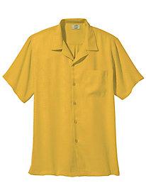 1950s Style Mens Shirts Leaf-Pattern Hawaiian Shirt $16.99 AT vintagedancer.com