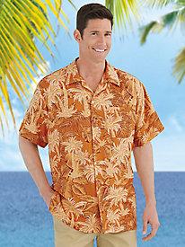 1950s Style Mens Shirts Bermuda Casuals Hawaiian Luau Camp Shirt $19.99 AT vintagedancer.com