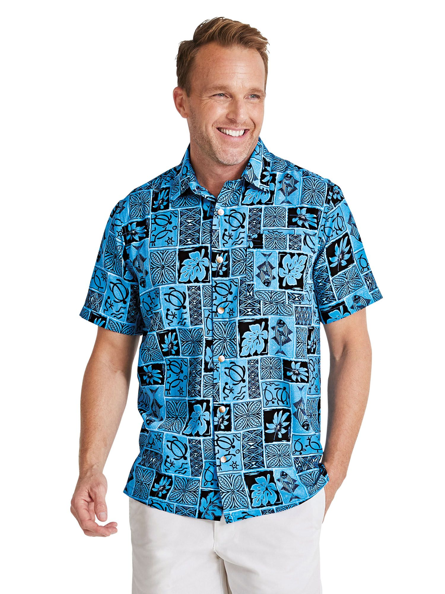 cd634d964 Batik Print Hawaiian Shirt. Tap to zoom