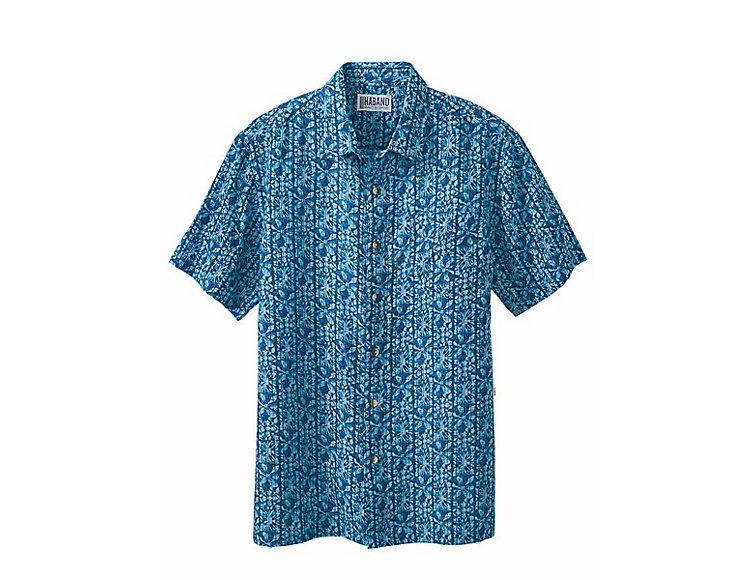 4fb93e228 Haband - Batik Print Hawaiian Shirt