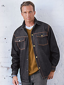 Men's Vintage Workwear – 1920s, 1930s, 1940s, 1950s Duke Fleece-Lined Denim Jacket $25.99 AT vintagedancer.com