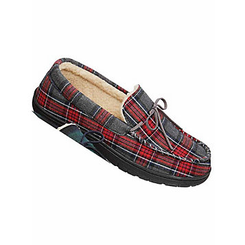 fa0e3be57 GoldToe® Plaid Flannel Slippers. Item Number: 45W