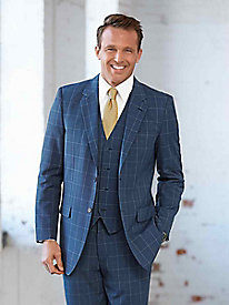 Men's Vintage Style Suits, Classic Suits Fit-Forever Gabardine Suit Jacket $42.99 AT vintagedancer.com