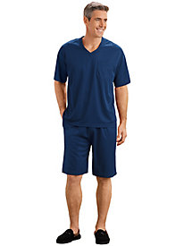 HebeTop Mens Summer Solid Color Pyjamas Short Sleeve Pajamas Casual Shorts /& Shirt PJ Set