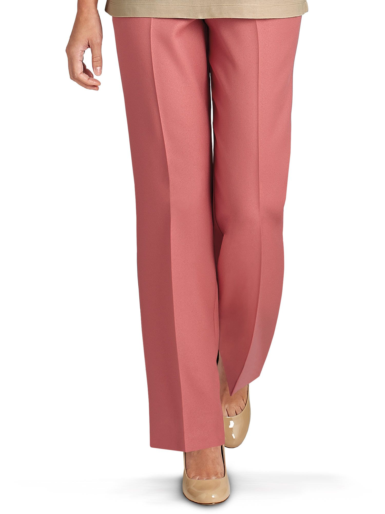 bec612185 Women's No Iron Poplin Pants. Tap to zoom