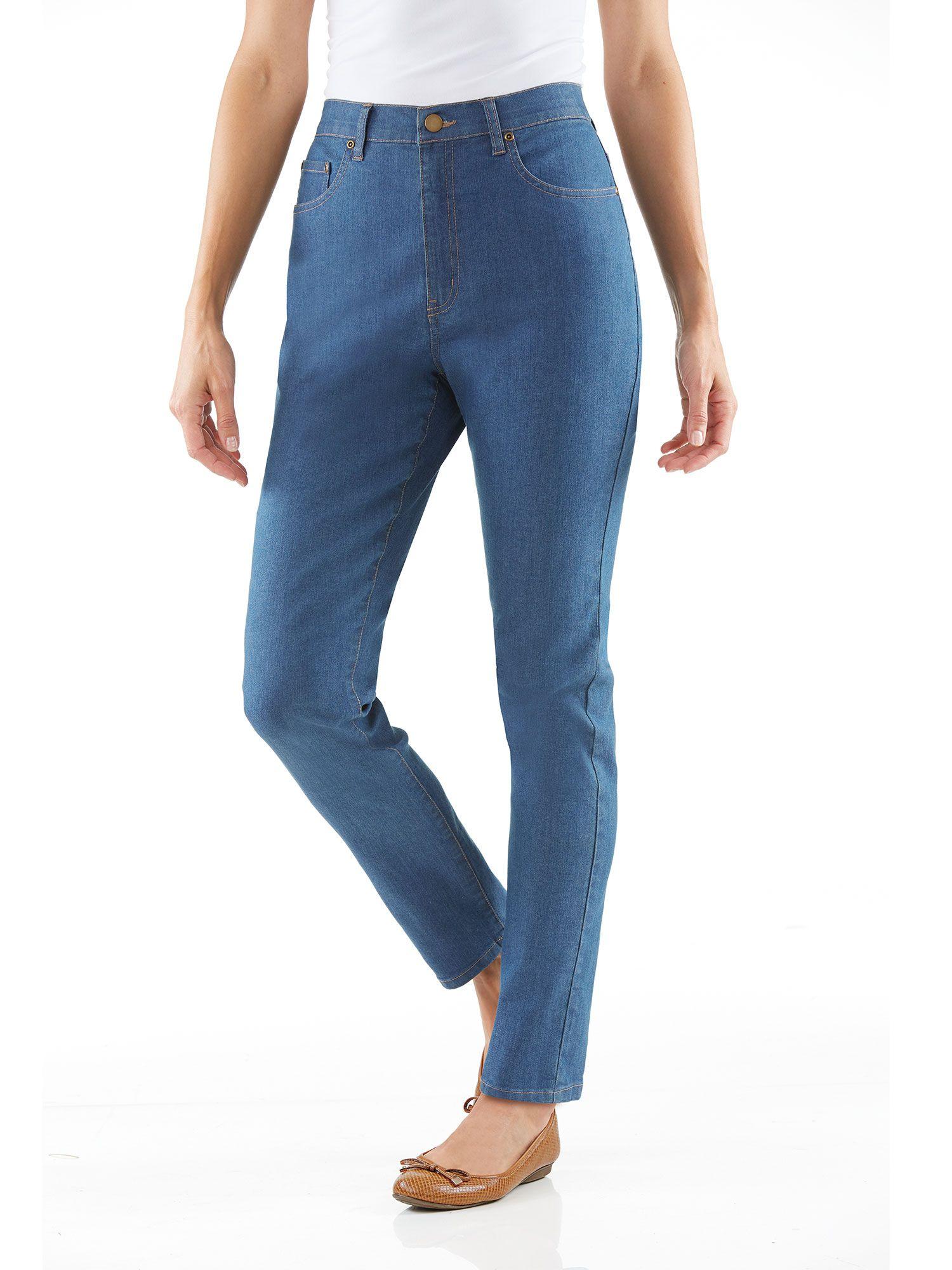jeans with stretch waist womens