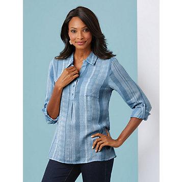 f7e3561dd51 Haband - Textured Striped Tunic