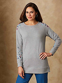 05295cd2d07 Embroidered French Terry Sweatshirt