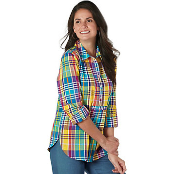 b799a558602 Haband - Button Accent Cotton Tunic