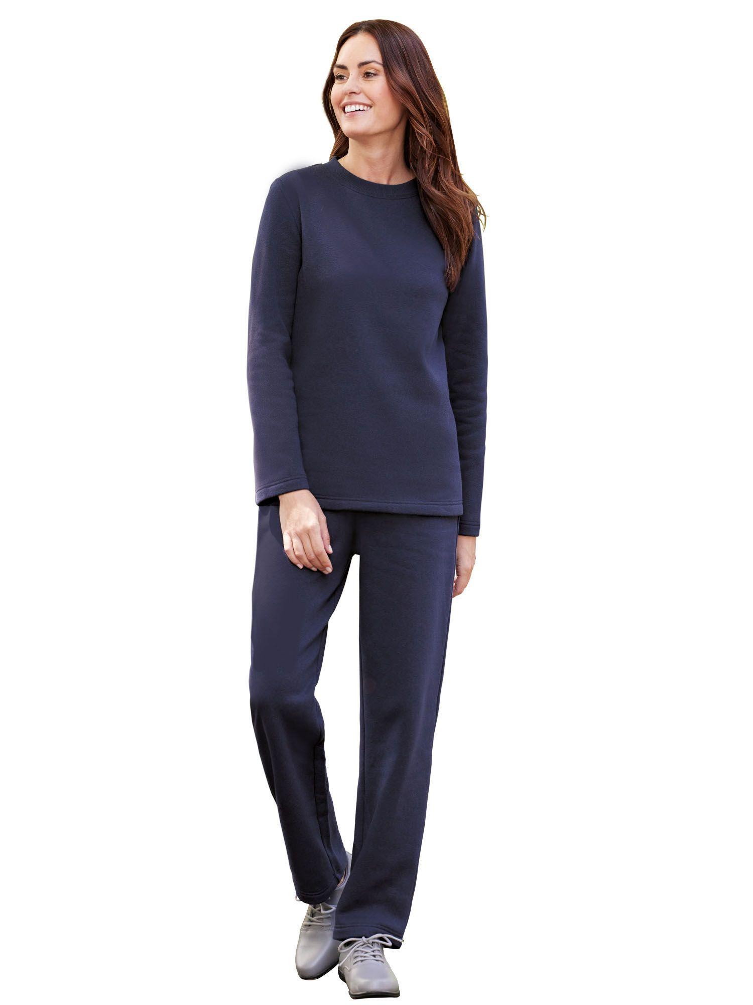 2 Pc XL Bottom:  Poly Women/'s Pajama Set Top: Cotton // Poly Fleece Lining