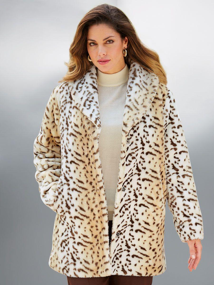 Nicelly Women Leopard Jacket Plus Size Mid-Long Style Hoode Overcoat Black M
