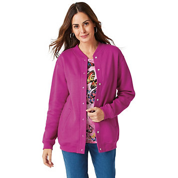 8b7cd802311ad9 Haband - Women's Snap-It-Up™ Fleece Jacket