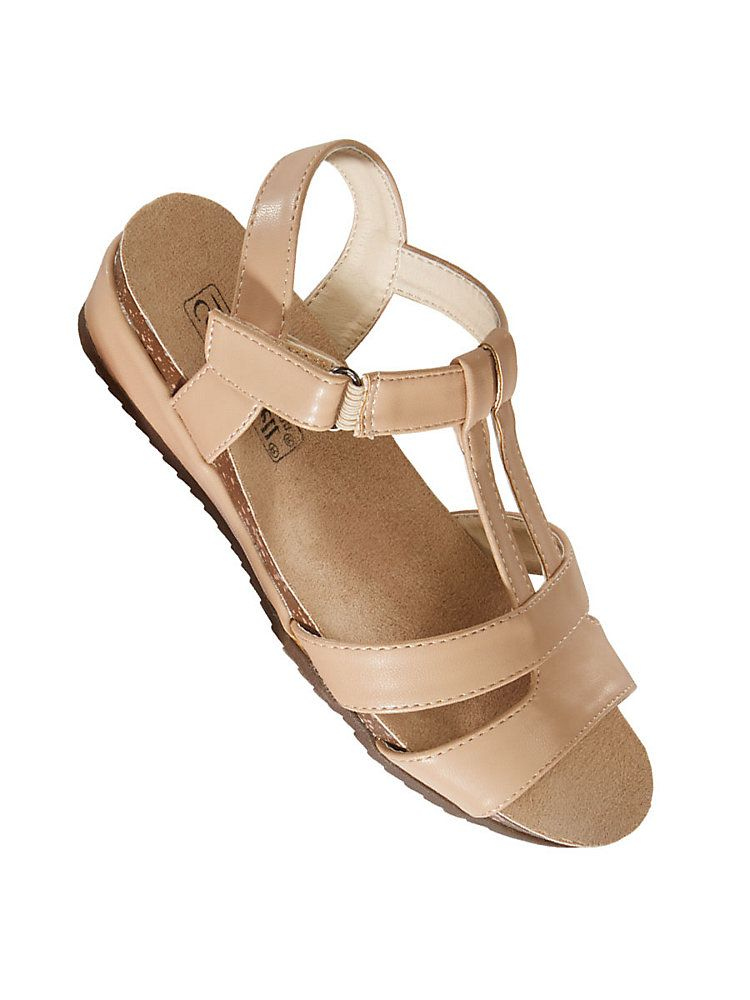 21700dc119814 Comfort-Well® by Beacon® T-Strap Sandals. Tap to zoom