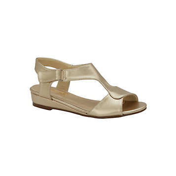 8cdbc3d2428c9 Haband - Comfort-Well® By Beacon® T-Strap Sandals With Mini Wedge