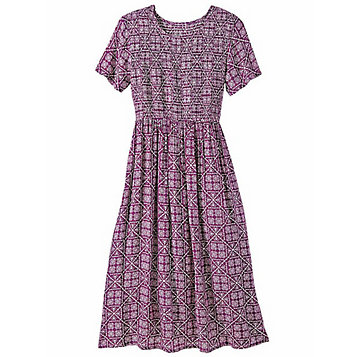 04df09f4645 Smocked Challis Dress. Item Number  G0G