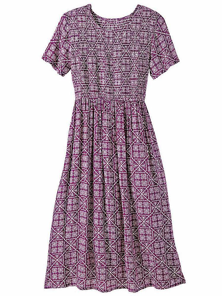 Smocked Challis Dress