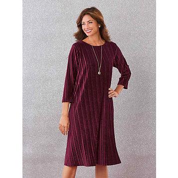 ac702e4a6f2e9 Ribbed Velour Swing Dress. Item Number: G1B