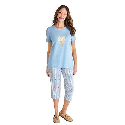 CafePress Happy Camper Womens Novelty Cotton Pajama Set Comfortable PJ Sleepwear