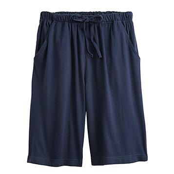 American Sweetheart Cotton Knit Shorts M blue green purple drawstring elastic