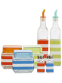7 pc. Glass Canister and Condiment Set