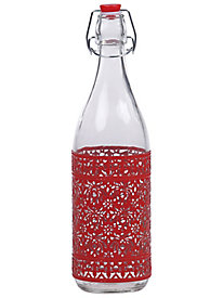 Red Airtight Glass Bottle